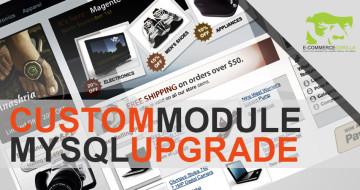 How to upgrade a Magento custom module mysql